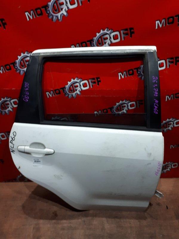 Дверь боковая Toyota Ist NCP60 2NZ-FE 2002 задняя правая (б/у)