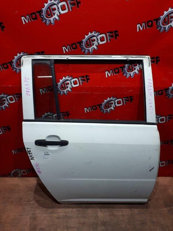 Дверь боковая Toyota Probox NCP51V 1NZ-FE 2002 задняя правая (б/у)