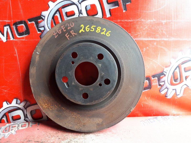 Диск тормозной Toyota Wish ZGE20W 2ZR-FAE 2009 передний (б/у)