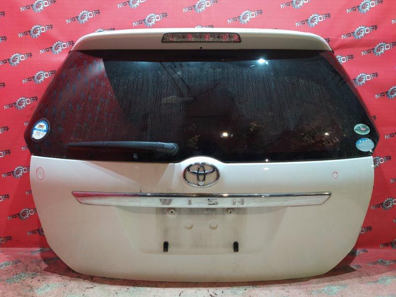 Дверь задняя багажника Toyota Wish ZNE10G 1ZZ-FE 2003 задняя (б/у)