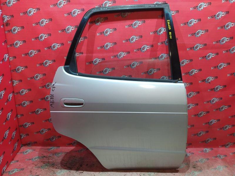 Дверь боковая Toyota Corolla Spacio AE111N 4A-FE 1997 задняя правая (б/у)