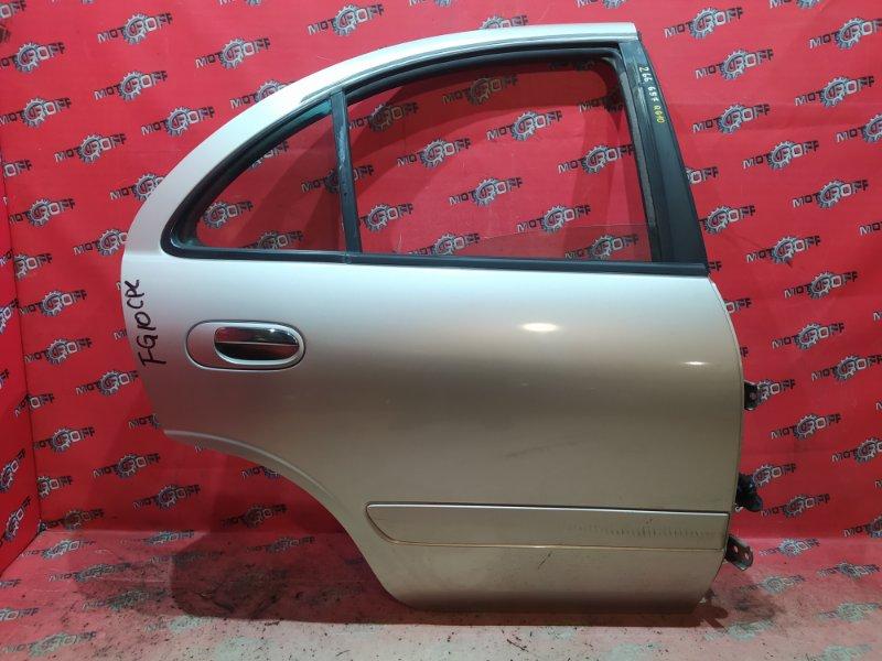 Дверь боковая Nissan Bluebird Sylphy TG10 QR20DD 2000 задняя правая (б/у)