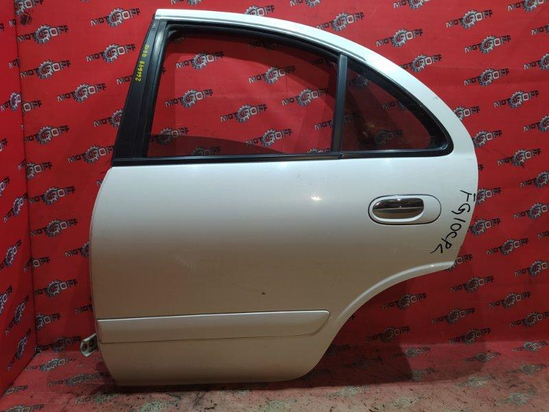Дверь боковая Nissan Bluebird Sylphy TG10 QR20DD 2000 задняя левая (б/у)