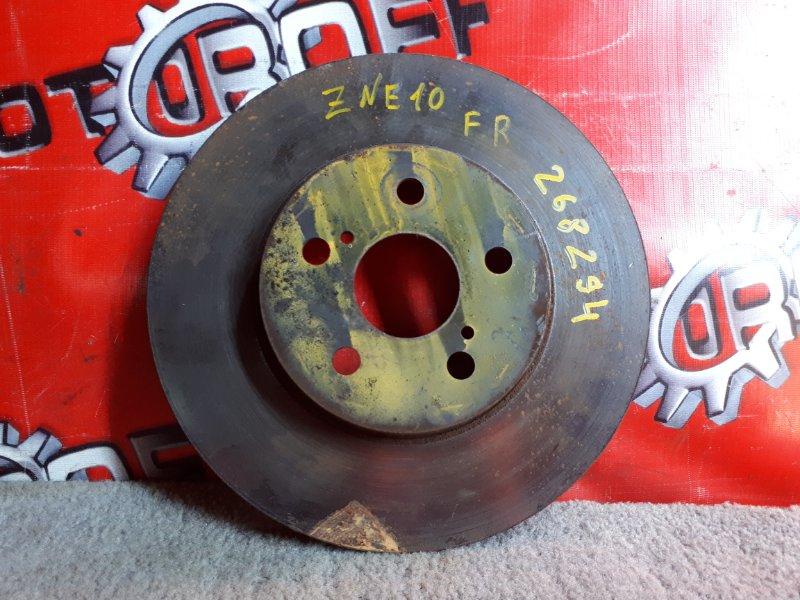 Диск тормозной Toyota Wish ZNE10G 1ZZ-FE 2003 передний (б/у)