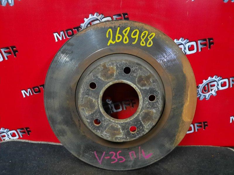 Диск тормозной Nissan Skyline V35 VQ25DD 2001 передний (б/у)