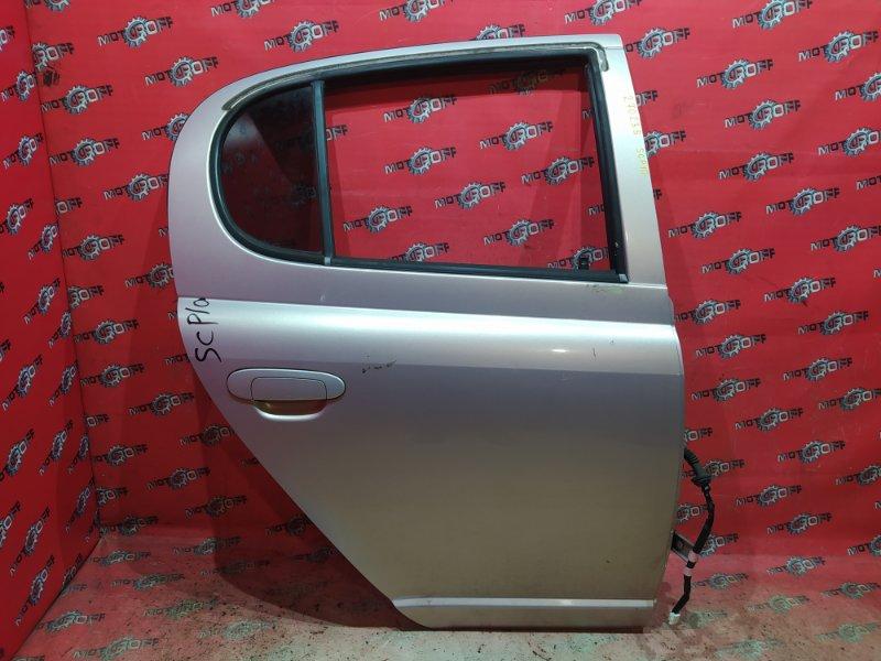 Дверь боковая Toyota Vitz SCP10 1SZ-FE 1999 задняя правая (б/у)