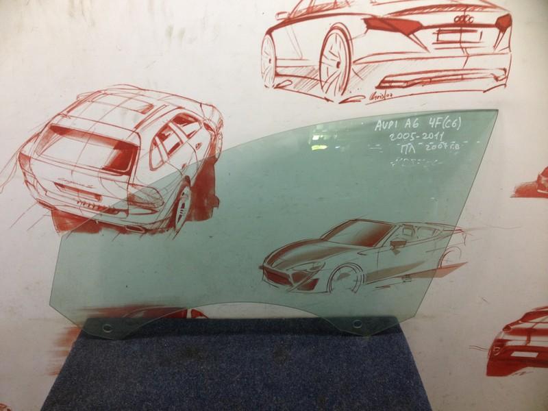 Стекло двери передней левой Audi A6 (C6) 2004-2011