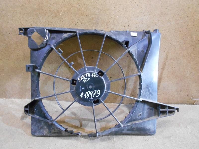Диффузор радиатора охлаждения - рамка вентиляторов Hyundai Santa-Fe (2012-2019)