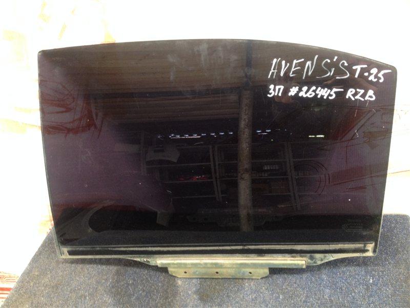 Стекло двери задней левой Toyota Avensis (T25_) 2003-2009 1ZZ-FE (1800CC) 2006
