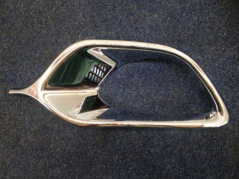 Накладка противотуманной фары - молдинг Renault Logan (2014-Н.в.) 2014 левая