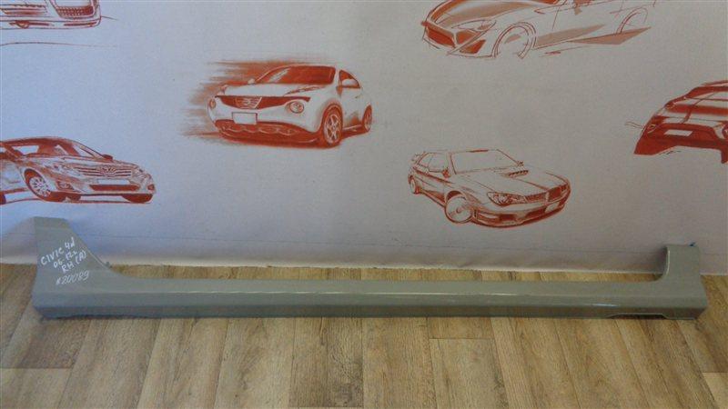 Накладка порога кузова - наружная облицовка Honda Civic 4D Седан (2005-2012) правая