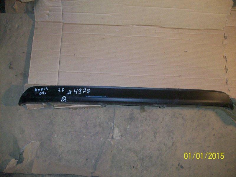 Спойлер (накладка) бампера заднего Toyota Auris (E15_) 2006-2012 2009 нижний