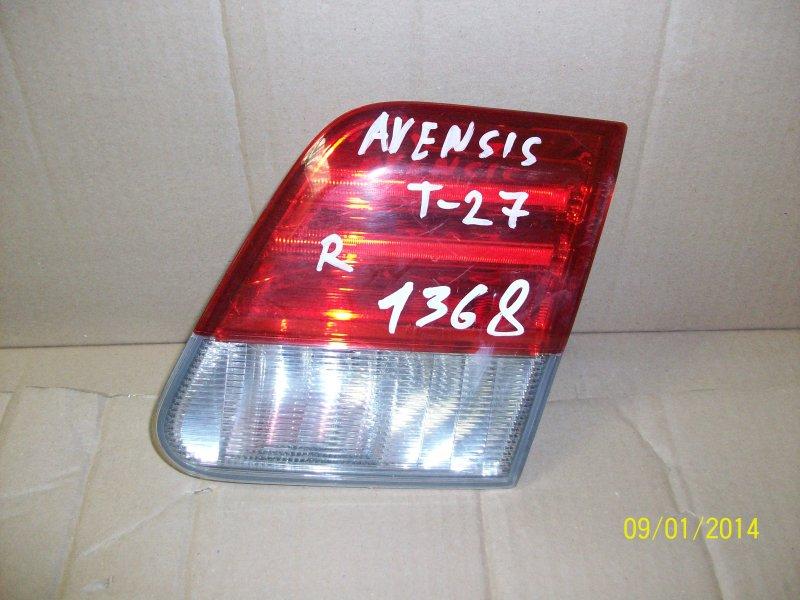 Фонарь правый - вставка в дверь / крышку багажника Toyota Avensis (T27_) 2008-2012 2011