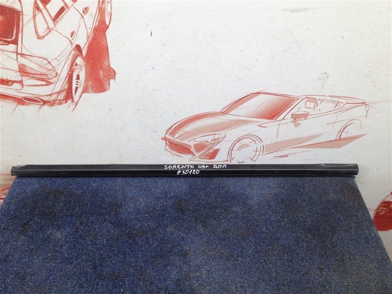 Молдинг-уплотнитель стекла двери (бархотка) Kia Sorento (2009-Н.в.) передний левый