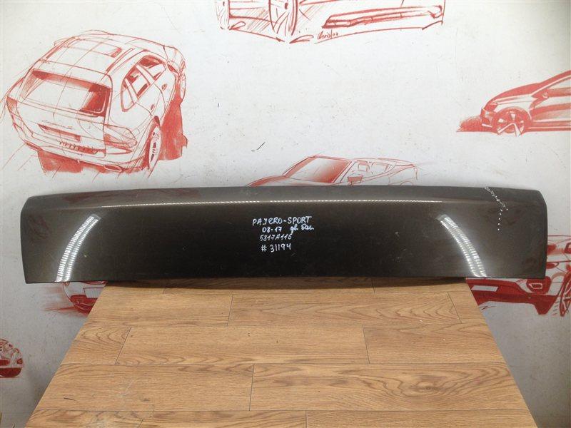 Накладка / молдинг двери багажника Mitsubishi Pajero Sport (2008-2017)