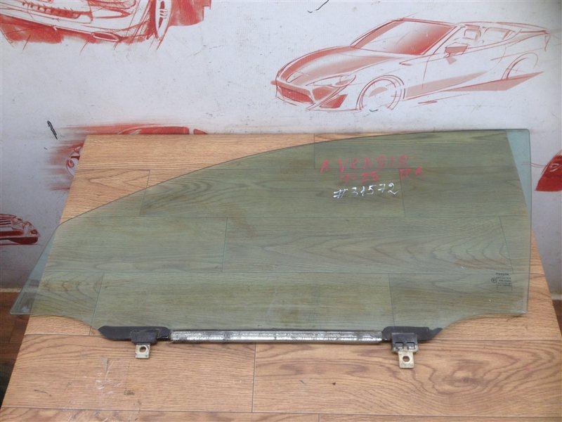 Стекло двери передней левой Toyota Avensis (T25_) 2003-2009 1ZZ-FE (1800CC) 2006
