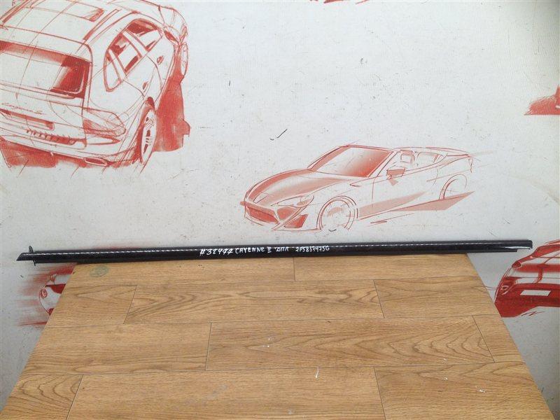 Молдинг-уплотнитель стекла двери (бархотка) Porsche Cayenne (2010-2018) передний левый