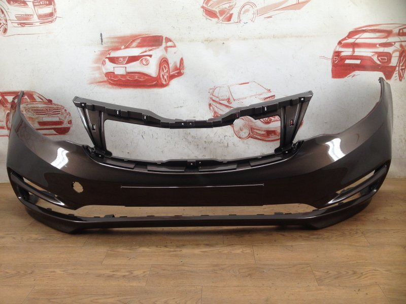 Бампер передний (окрашенный) Kia Rio (2011-2017) 2015