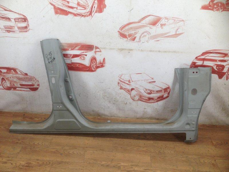 Кузов - порог (обрезок) Nissan Almera (2012-2019) правый
