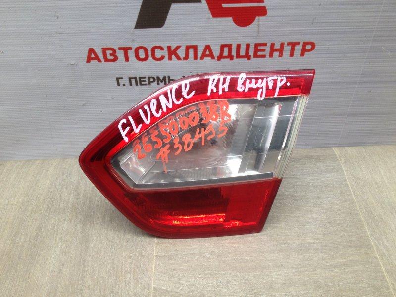 Фонарь правый - вставка в дверь / крышку багажника Renault Fluence (2009-2017)