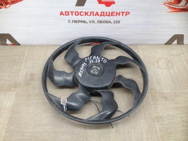 Вентилятор радиатора охлаждения - крыльчатка с мотором Kia Picanto (2011-2017)
