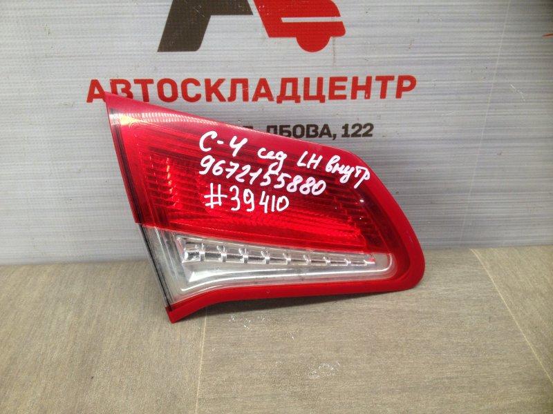 Фонарь левый - вставка в дверь / крышку багажника Citroen C4 2010-Н.в. 2013
