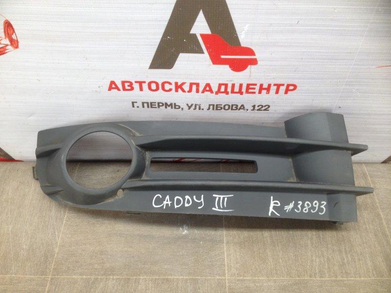 Накладка противотуманной фары / ходового огня Volkswagen Caddy (2004-2015) 2004 правая