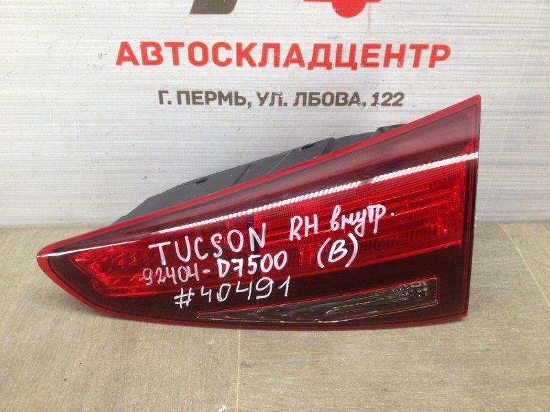 Фонарь правый - вставка в дверь / крышку багажника Hyundai Tucson (2015-Н.в.) 2018