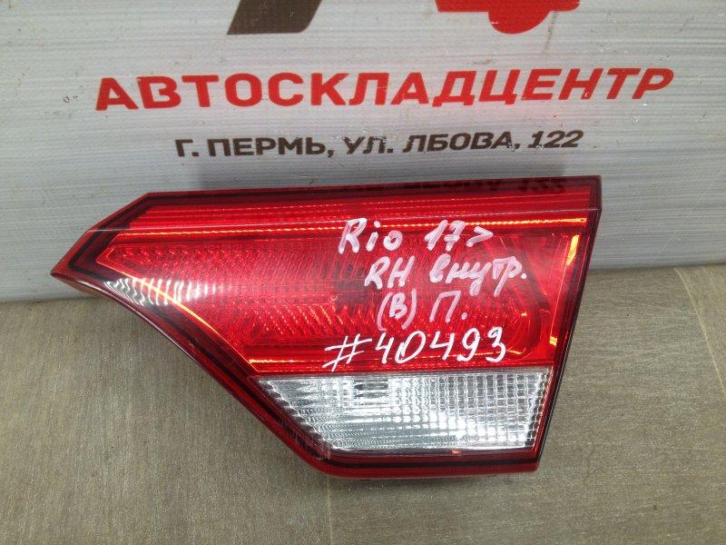 Фонарь правый - вставка в дверь / крышку багажника Kia Rio (2017-Н.в.)