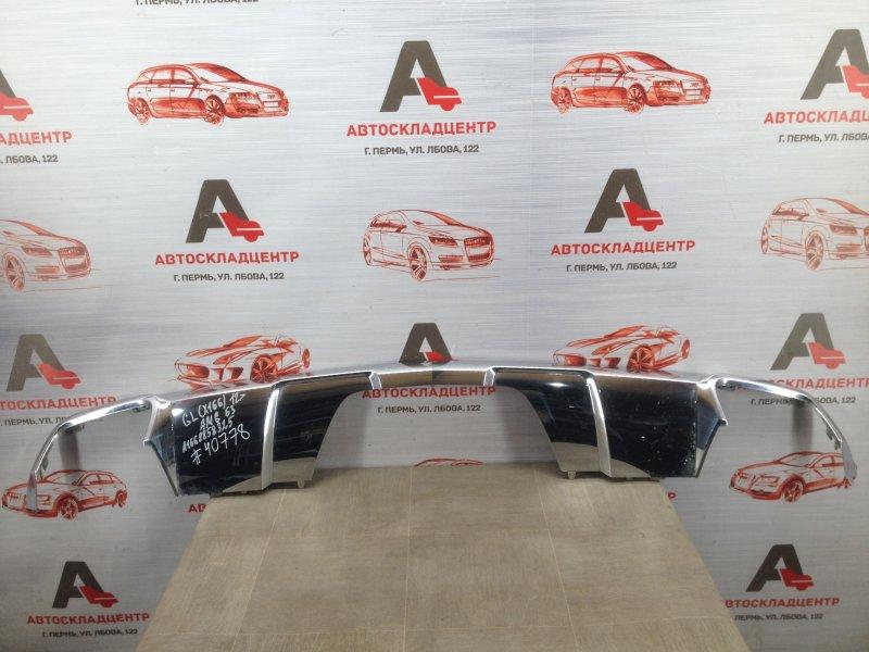 Спойлер (накладка) бампера заднего Mercedes Gl-Klasse (X166) 2012-2015
