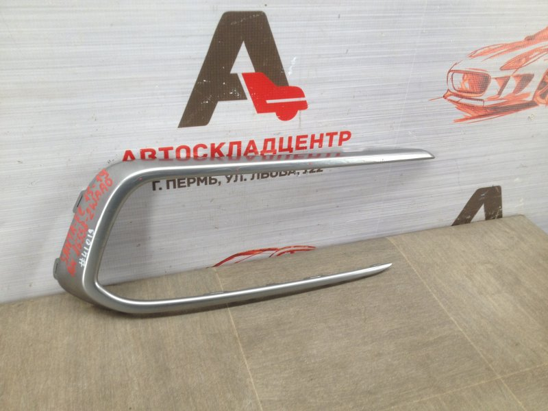 Накладка противотуманной фары - молдинг Hyundai Santa-Fe (2012-2019) 2015 правая