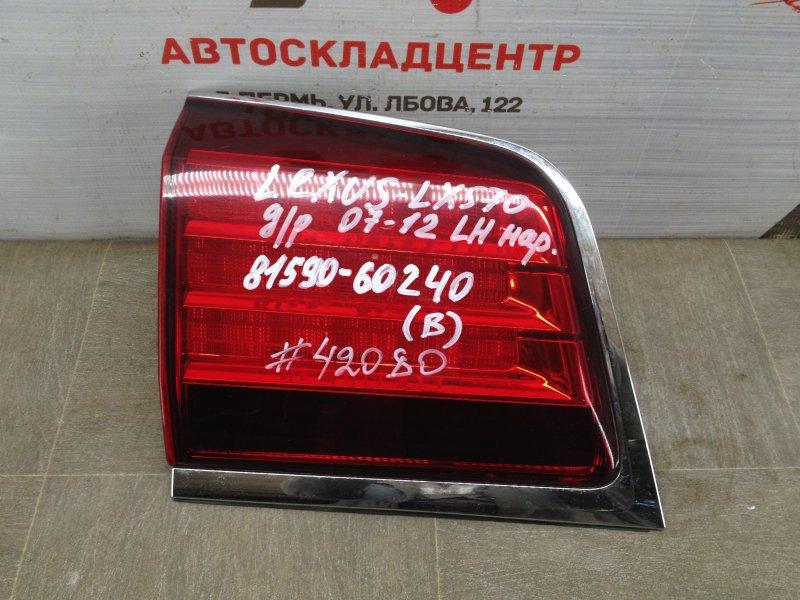 Фонарь левый - вставка в дверь / крышку багажника Lexus Lx -Series 2007-Н.в. 2007