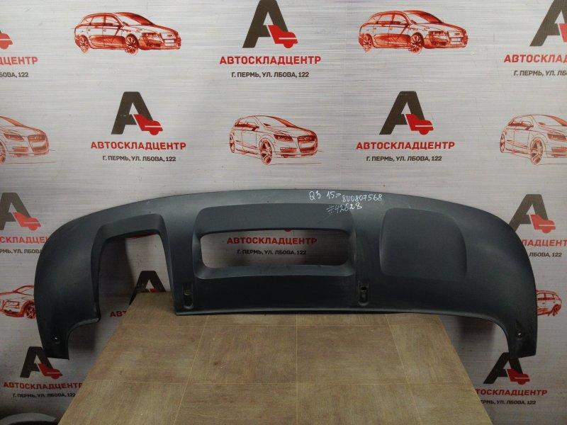 Спойлер (накладка) бампера заднего Audi Q3 (2011-2019) 2014 нижний