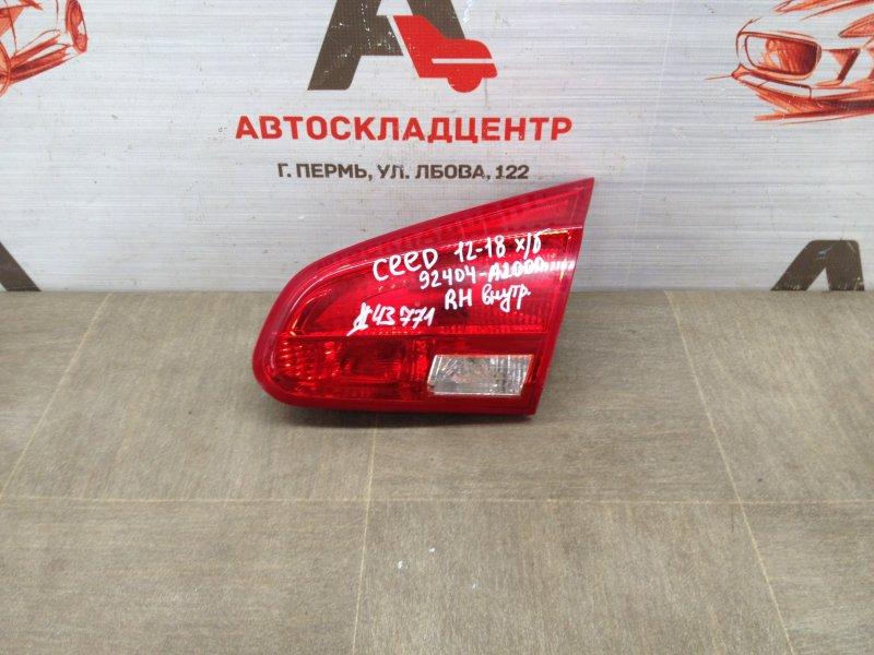 Фонарь правый - вставка в дверь / крышку багажника Kia Ceed (2012-2018)