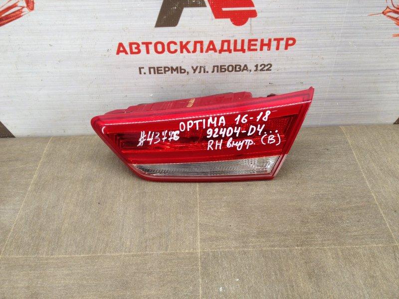 Фонарь правый - вставка в дверь / крышку багажника Kia Optima (2015-2020) 2015