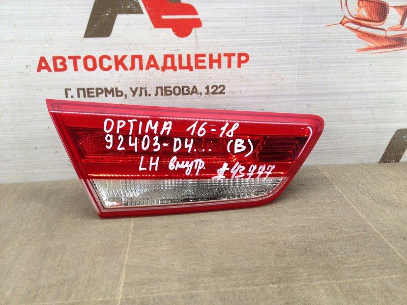Фонарь левый - вставка в дверь / крышку багажника Kia Optima (2015-2020) 2015