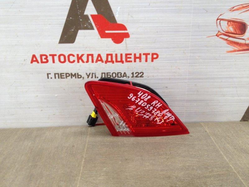 Фонарь правый - вставка в дверь / крышку багажника Peugeot 408 (2012-Н.в.)