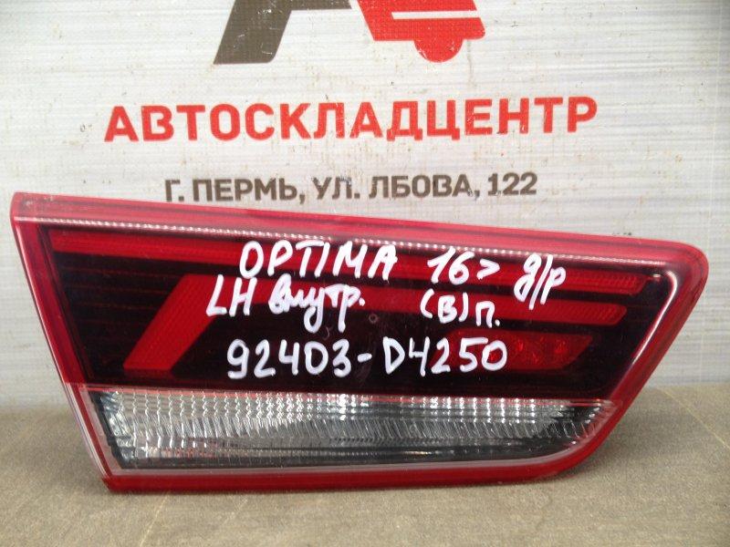 Фонарь левый - вставка в дверь / крышку багажника Kia Optima (2015-2020) 2018