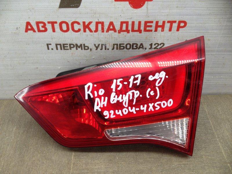 Фонарь правый - вставка в дверь / крышку багажника Kia Rio (2011-2017) 2015