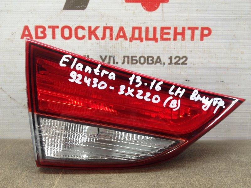 Фонарь левый - вставка в дверь / крышку багажника Hyundai Elantra (2011-2016) 2013