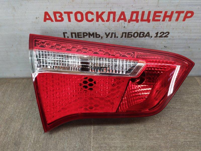 Фонарь левый - вставка в дверь / крышку багажника Kia Rio (2011-2017) 2011