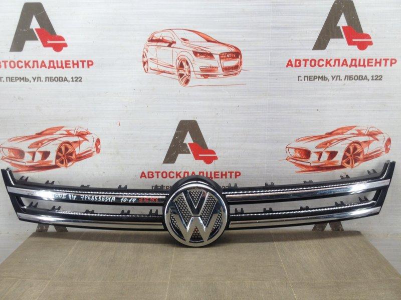 Решетка радиатора - молдинг Volkswagen Touareg (2010 - 2018) 2010