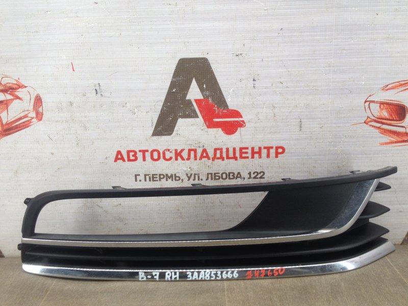 Накладка противотуманной фары / ходового огня Volkswagen Passat (B7) 2010-2014 правая