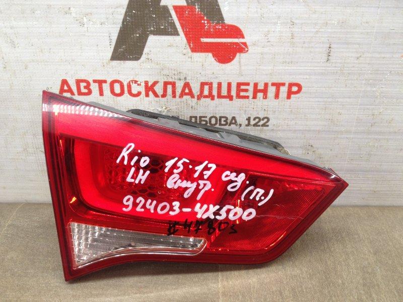 Фонарь левый - вставка в дверь / крышку багажника Kia Rio (2011-2017) 2015