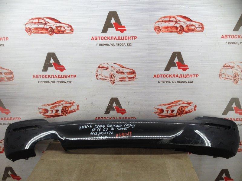 Спойлер (накладка) бампера заднего Bmw 3-Series Grand Turismo (F34) 2013-Н.в. 2013