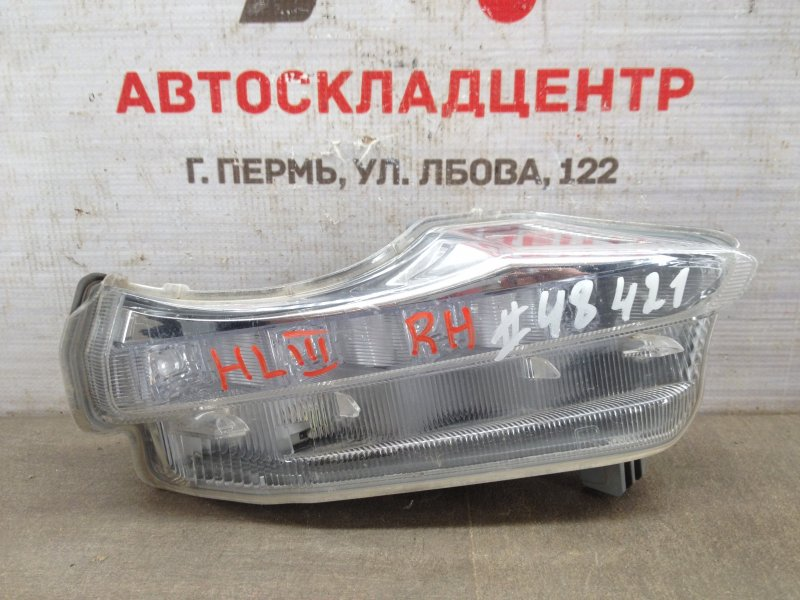 Фара противотуманная / дхо Toyota Highlander (Xu50) 2013-Н.в. 2013 правая