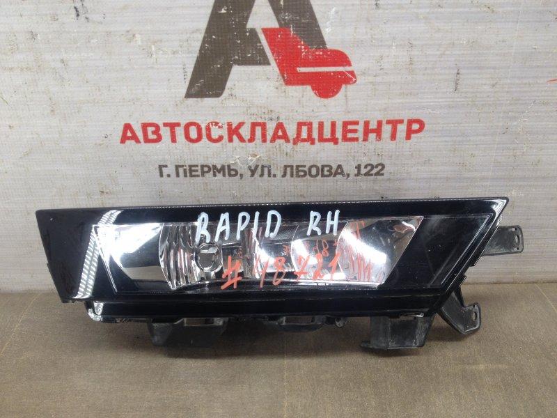 Фара противотуманная / дхо Skoda Rapid (2012-2020) 2017 правая