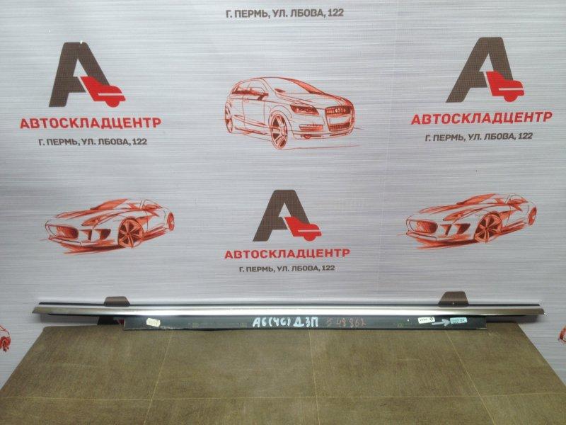 Молдинг-уплотнитель стекла двери (бархотка) Audi A6 (C7) 2010-2018 передний правый