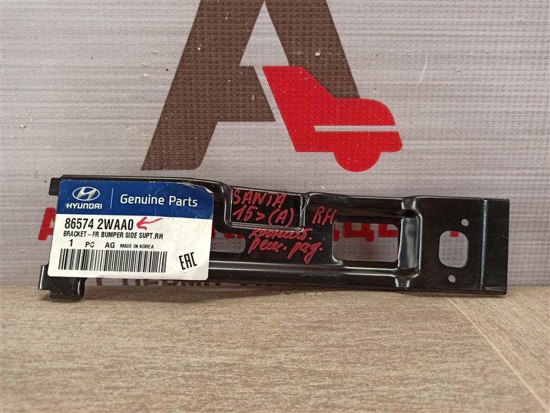 Кронштейн решетки радиатора Hyundai Santa-Fe (2012-2019) правый