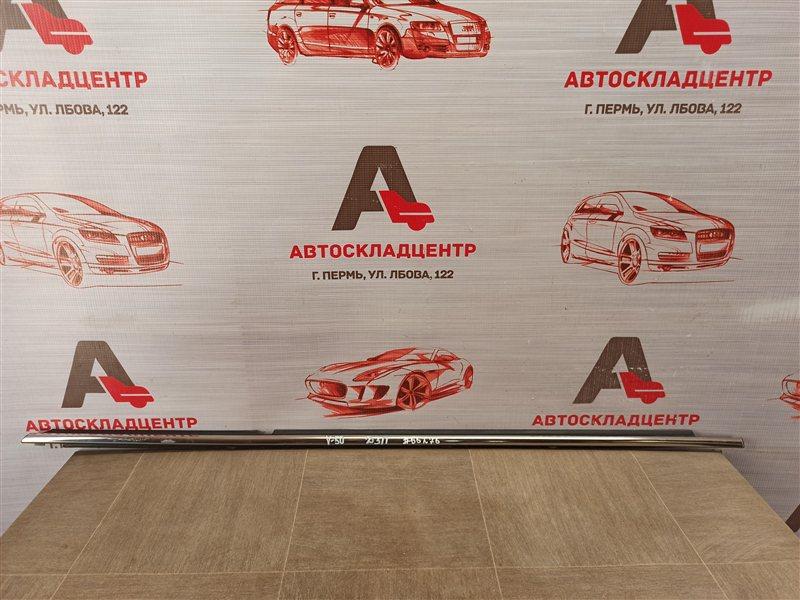 Молдинг-уплотнитель стекла двери (бархотка) Toyota Camry (Xv50) 2011-2017 задний правый